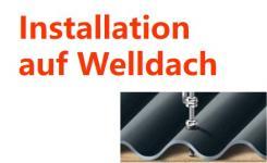 Installation auf Welldach