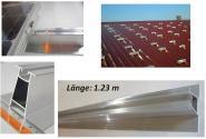 Montageschiene Direktbefestigung. Hohe Ausführung. 1.23m.Für 4 – 6 Halter Solar. OHNE