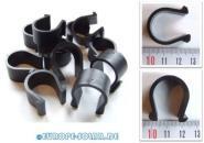 25 Stück Kabelclip, Solarkabel Befestigung für Montageschiene, Kabelbinder