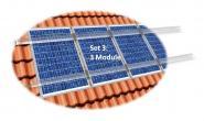 PV Befestigungskit 3 Module (max 103cm je Modul) Dachhaken Aluprofil Solar 3 Module