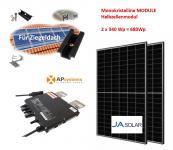 680Wp Balkonkraftwerk 2x Halbzellen Solarmodul +APSystems für Ziegeldach