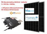 Paket: 2x Trina 340Wp + APSystems Mikrowechselrichter Wieland Stecker. Solarmodul Halbzelle