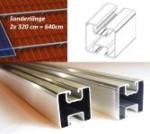 Sonderlänge 2x320cm Solar Aluprofil 40x40mm Für Montage PV Dachhaken Stockschraube