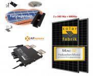 680Wp Minikraftwerk 2x Halbzellen Solarmodul +APSystems für Ziegeldach
