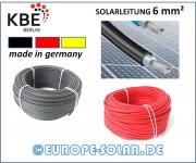 KBE solar cables 6 mm². Meter. Color Black, Red, Blue. Black