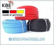 KBE solar cables 4 mm². Meter. Color Black, Red, Blue.