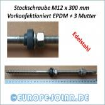 Edelstahl Stockschraube M12 x 300 mm