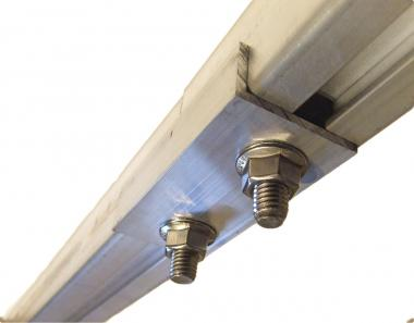 Profile connector M10 screws static bearing connection. For 40x40mm rail