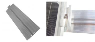 Solar Mittelklemme Rahmenhöhe 30 mm Komplett Befestigungsset