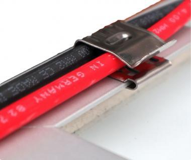 10x Kantenclip Solarkabel Edelstahl Kabelbinder PV Edgeclip