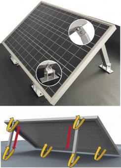 Set 2x Vario Aufständerung Solarmodul Stufenlos 20° bis 40° variable Modulgröße