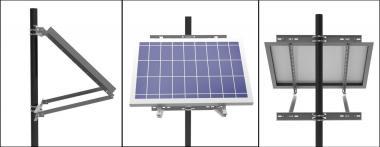 Pfahlbefestigung Solarmodul PV Halter Mast Pol Aufständerung Winkel einstellbar