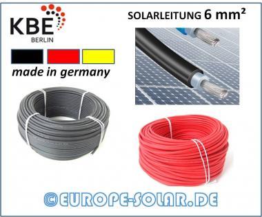 KBE Solarkabel 6 mm². Meterware. Farbe Schwarz , Rot,