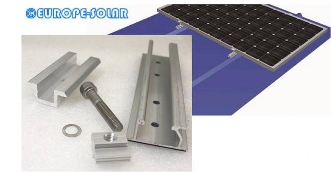 Befestigungsset Solarmodul. Mit Mittelklemme. Trapezblech, Rahmenhöhe: 35mm 35 mm