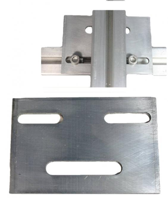 Kreuzverbinder Alu Solar Montage Profil, Kreuzverbandplatte für Photovoltaik