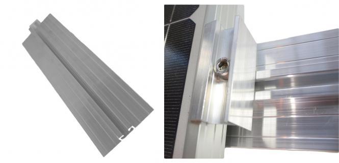 Solar Trapezblech Befestigung Set: Schiene+ Endklemme Blechdach PV Alu Halter 35mm 35mm