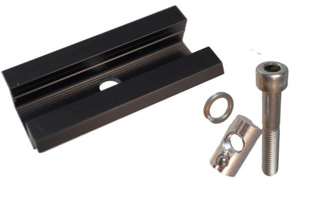 Solar Mittelklemme. SCHWARZ. Set mit Schraube / Nutenstein. Rahmenhöhe 35mm 35 mm