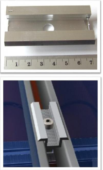 Solar Middle Clamp. Frame Size: 30 - 50mm