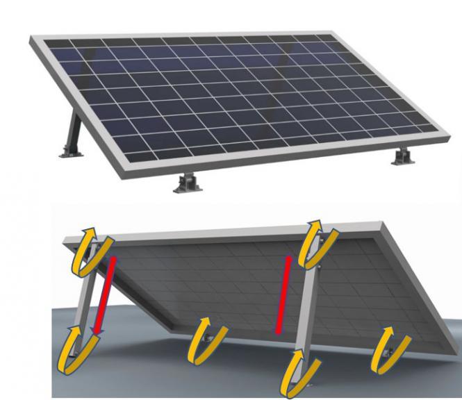 Sonderedition Schwarz: 2x Vario Solar Aufständerung Stufenlos 20°-40° Montage