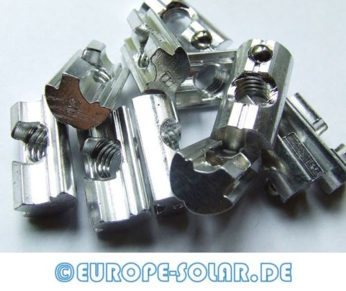 10 pcs. Alu swivel block,M8, with stainless steel spring ball