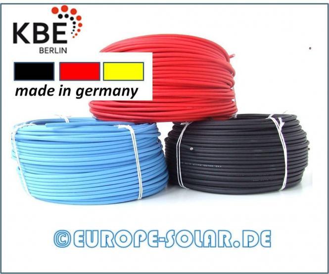 KBE Solarkabel 4 mm². Meterware. Farbe Schwarz , Rot, Blau.