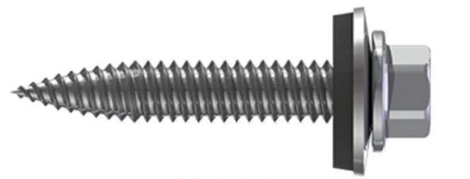 10x Reisser Dünnblechschraube 6,0x25mm EPDM Bi-Metall Trapezblech