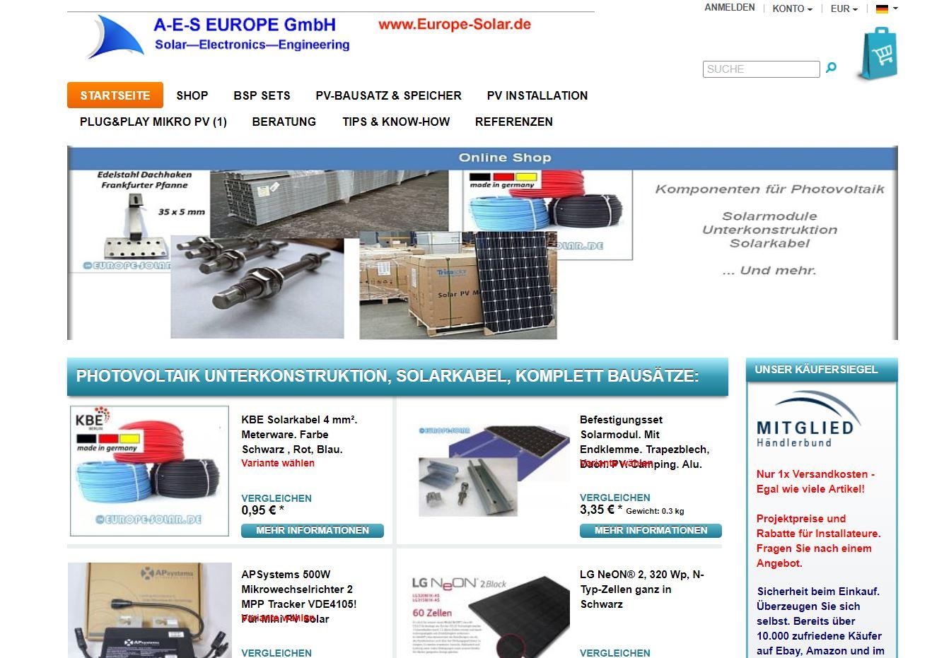 Shop.Europe-Solar.de