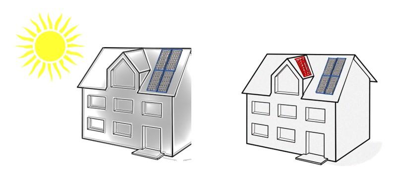 Die klassische Solaranlage auf dem Einfamilienhaus