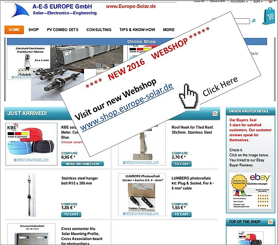 Webshop www.shop.europe-solar.de
