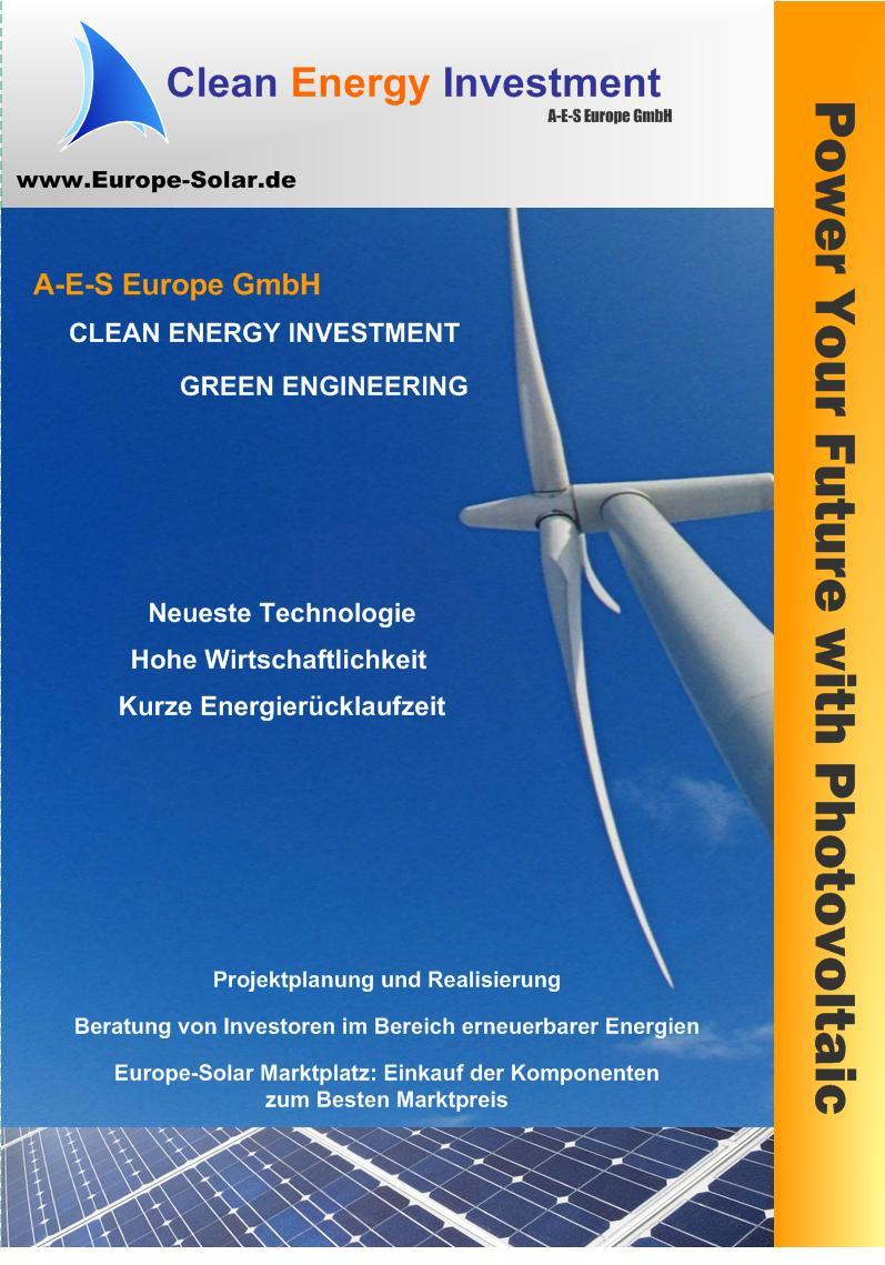 Flyer Europe Solar