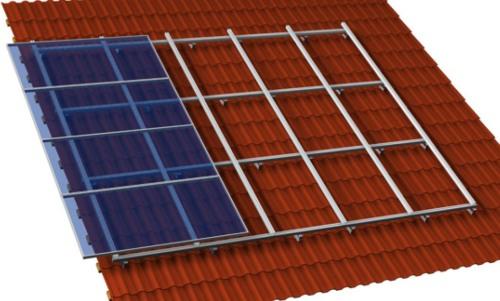 Solar Montage Kruezverbund Befestigung