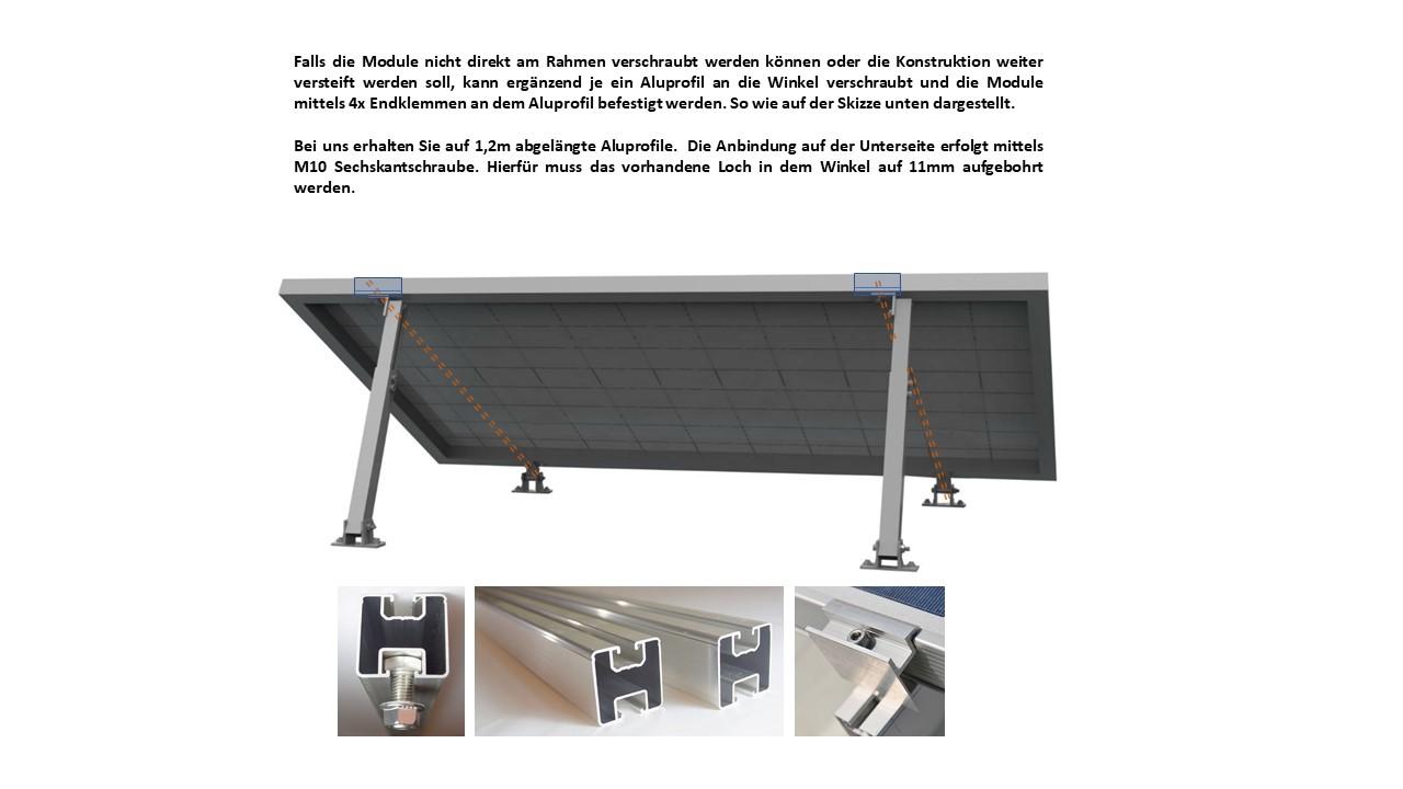 Stockschraube Installation Dach